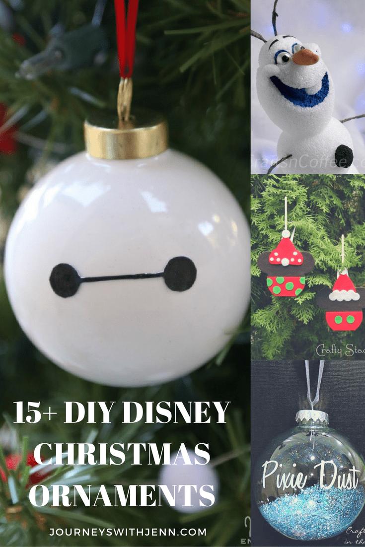 Disney Christmas Ornaments 15 Simple Diy Journeys With Jenn Disney Christmas Diy Disney Diy Christmas Ornaments Disney Ornaments Diy