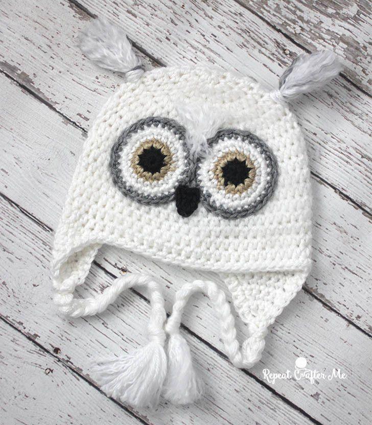 Crochet Snowy Owl Hat   Crochet Projects   Pinterest