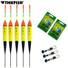 100pcs Plastic Fishing Float Vertical Buoy Long Tail Floating Stick Tube