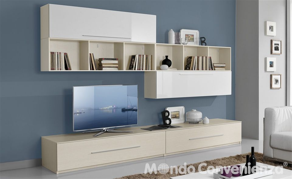 Soggiorno orion mondo convenienza arredamento house for Pareti attrezzate mondo convenienza