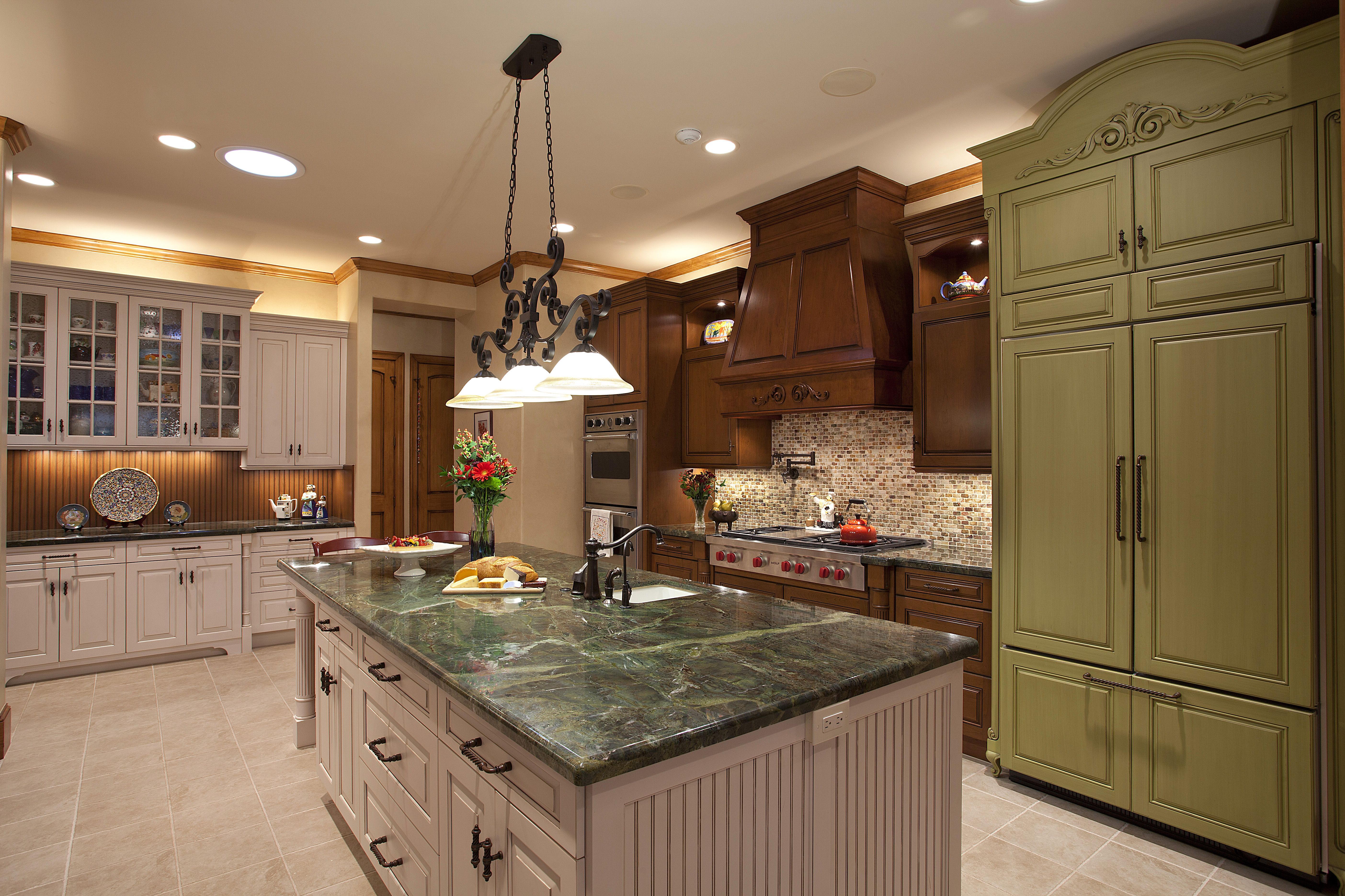 Kitchen Remodel With A Mixture Of Wood Mode And Brookhaven Cabinetry Frechn Door Refrigerator Panels In Wood Mo Refrigerator Panels Kitchen Remodel Wood Mode