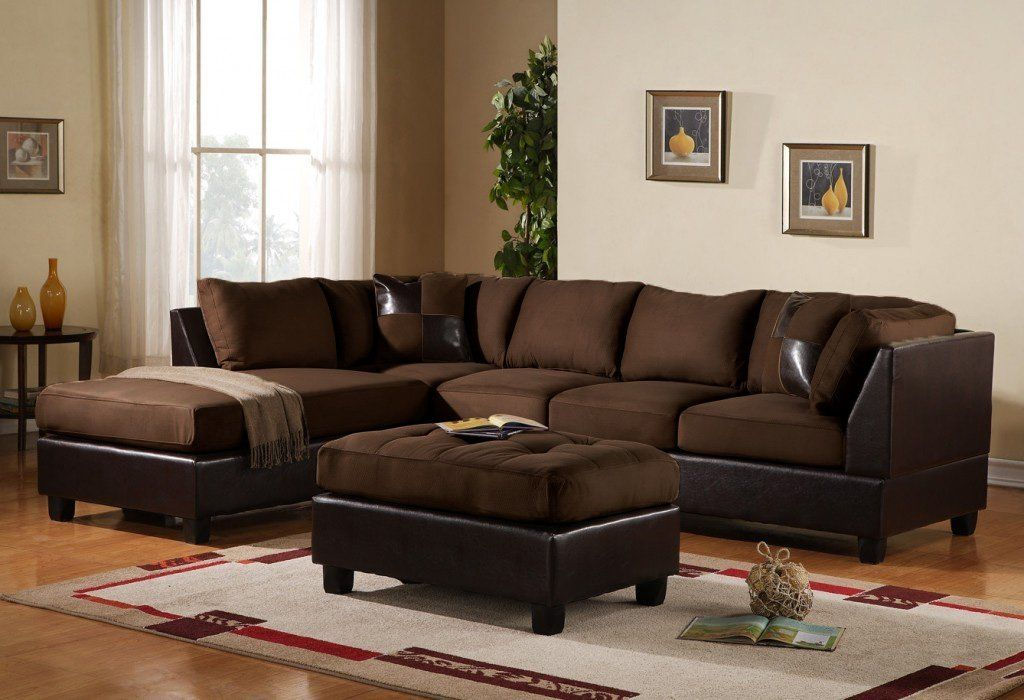 Livingroom Designs Ideas With 3 Piece Modern Reversible Microfiber Faux  Leather Sectional Couch 3 Piece