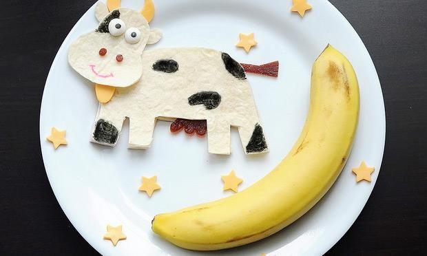 Tortilla de vaca com banana