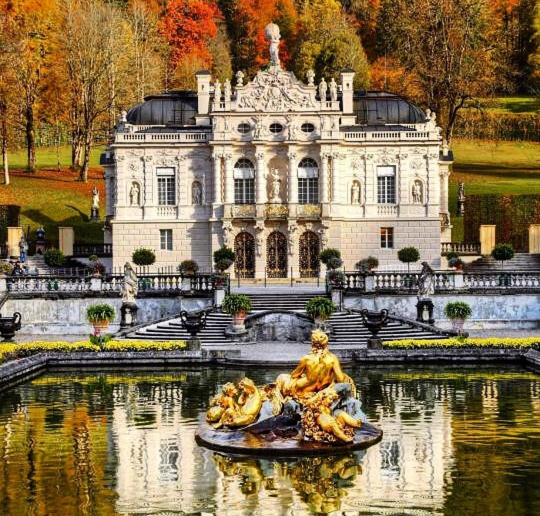 Castles And Palaces On Instagram Linderhof Palace Linderhof Palace German Schloss Linderhof Is A Schloss In Germany Linderhof Palace German Houses Castle
