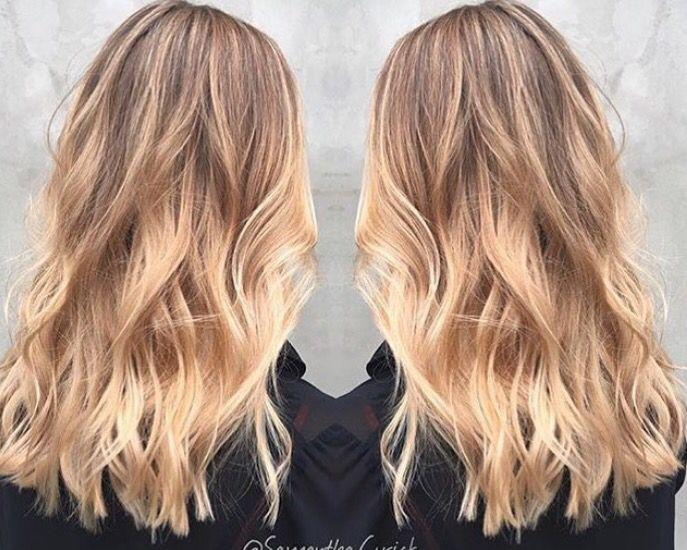 golden blonde hårfärg