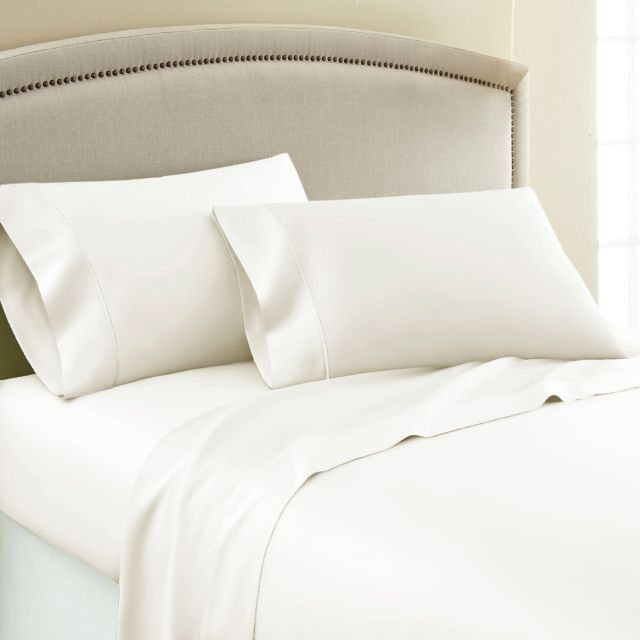 Product Image For Laundry By Shelli Segal 250 Thread Count Soft Wash Cotton Percale Sheet Set