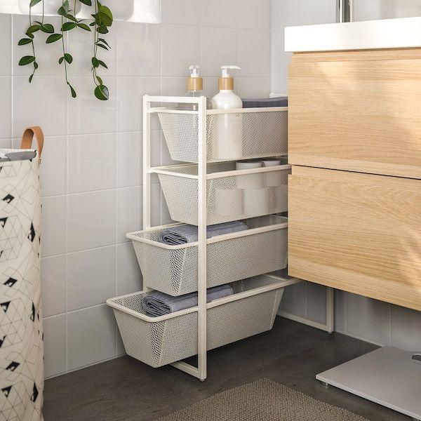 Jonaxel Frame With Mesh Baskets Shop Ikea Ikea Waschekorb Regale Aufbewahrung Regale Ikea Rollwagen