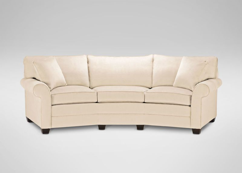 Bennett Conversation Sofa Curved Long 110 Casual Ethan Allen