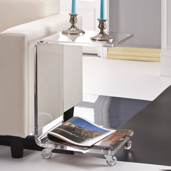 C Shape Acrylic Accent Table Ping Great Deals On