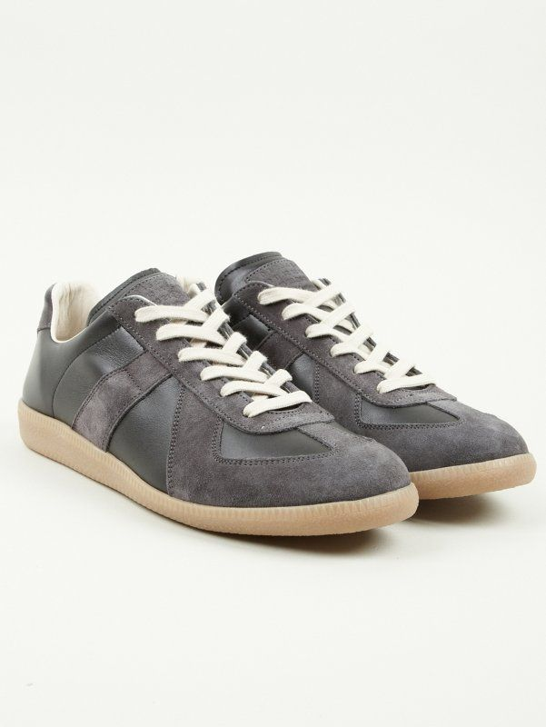 Mens Mens Replica Nubuck & Suede Sneakers Maison Martin Margiela X3TYb