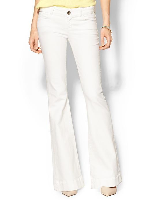 white flare jeans #denim #jbrand #piperlime $238