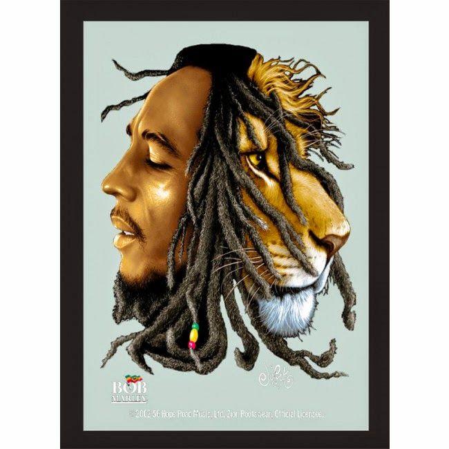 Espejo Bob Marley Lion   Regalos de Navidad   Decoración ...