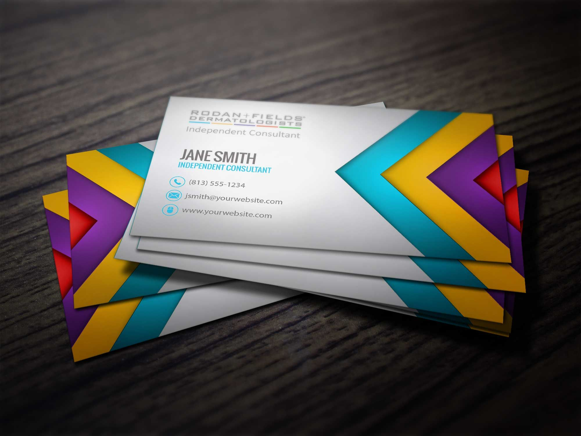 changing skin changing lives business card template