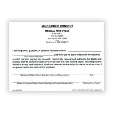 Sample Child Medical Consent Form Medical Release Form For Minor