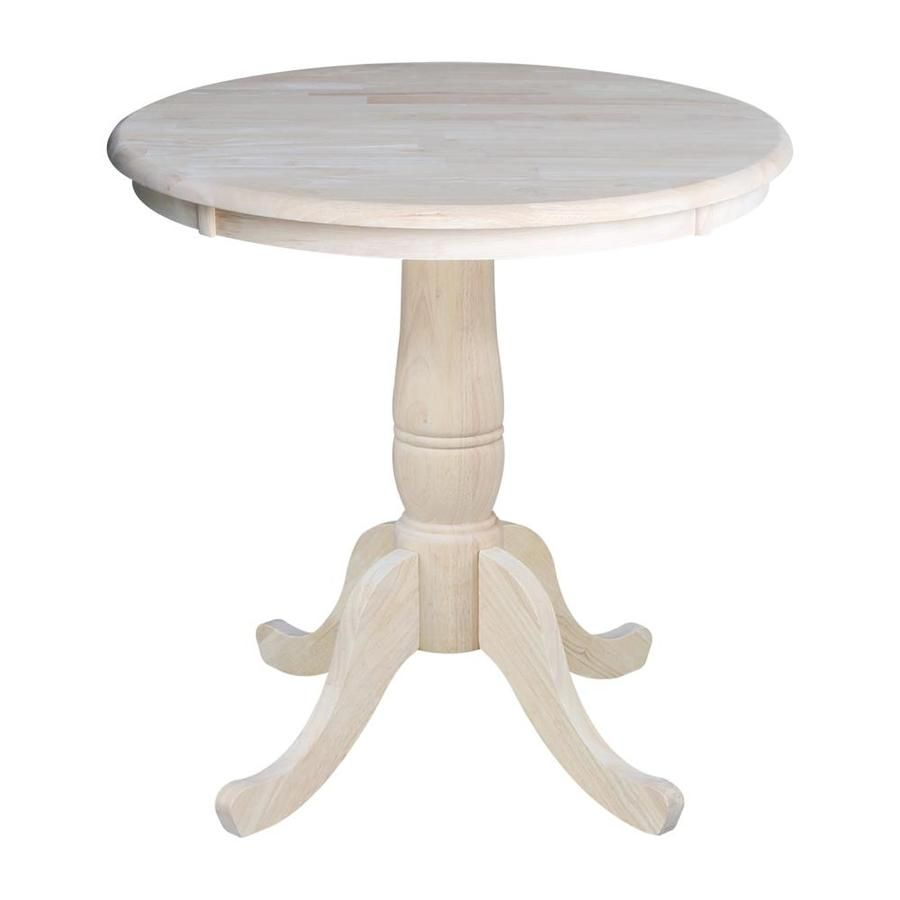International Concepts Unfinished Round Dining Table Wood With Unfinished Wood Base Lowes Com Dining Table Pedestal Dining Table Round Wood Dining Table Unfinished round dining tables