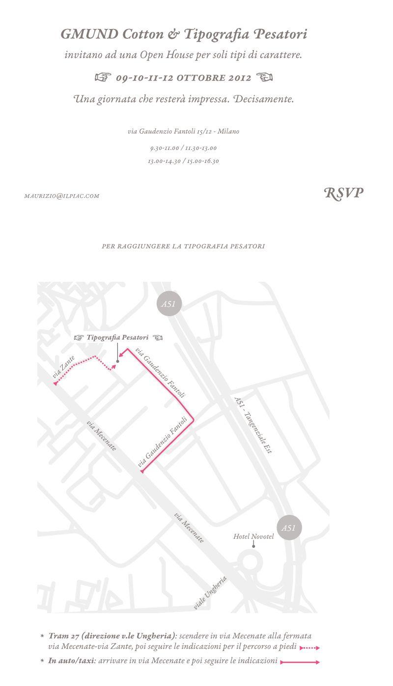 Passione, Tipografia & Cotone: una Open House per soli tipi di carattere. Per agenzie & studi grafici. RSVP.