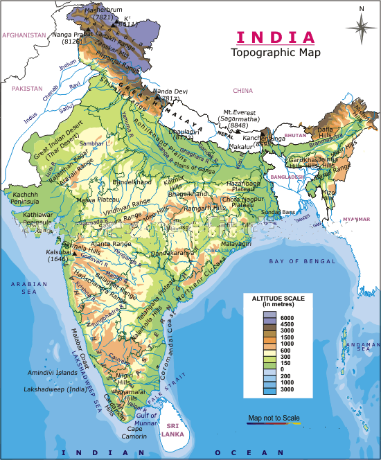India Physical Png 550 664 India Map Geography Map World Geography Map