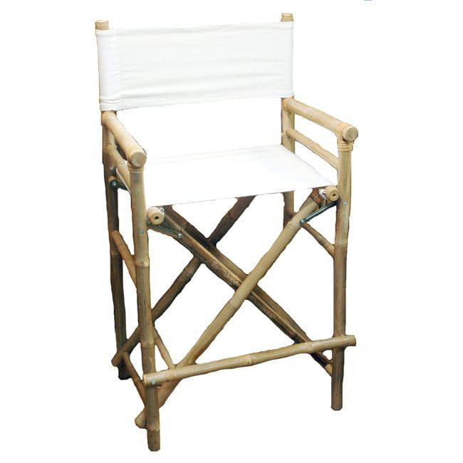 Artisan Bamboo 2 Piece Bar Height Director Chairs (Vietnam) (Bamboo Bar  Height Director Chairs (set Of 2)), Brown (Wood)