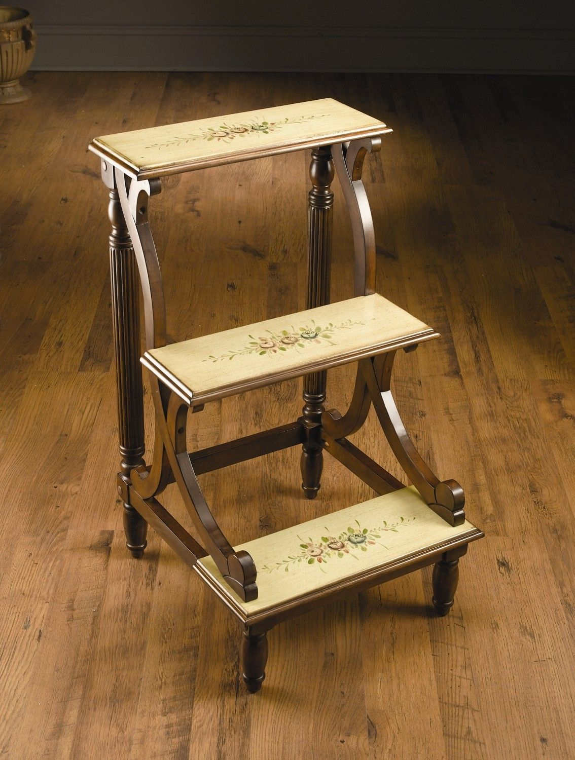3 Step Wood Library Step Stool Library Steps Pinterest