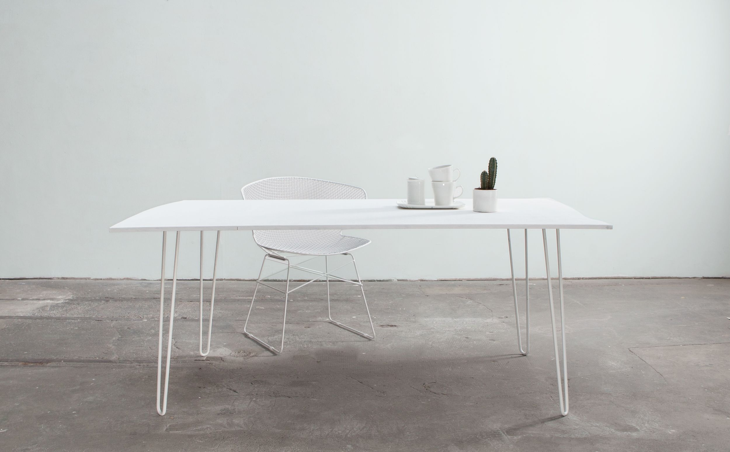 White Dining Table Made With White Large Hairpin Legs Hairpin Dining Table Console Table Styling White Dining Table