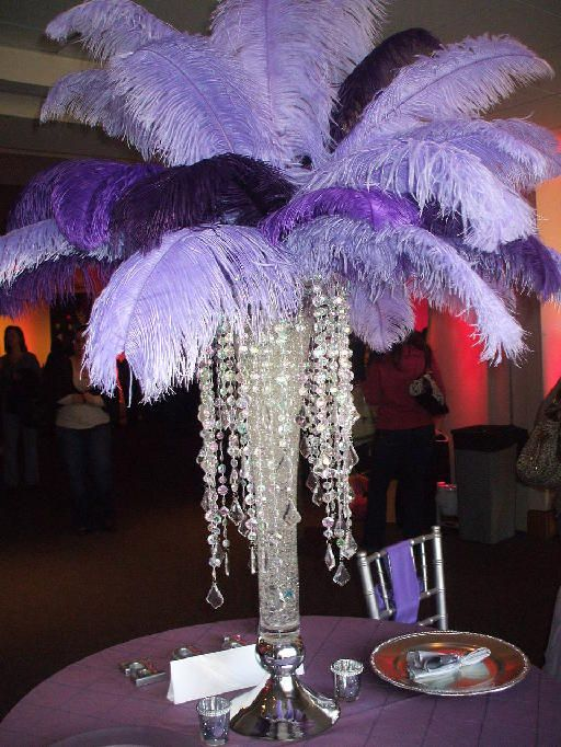 Centrepiece By Pure Dymonds Events Lavender And Dark