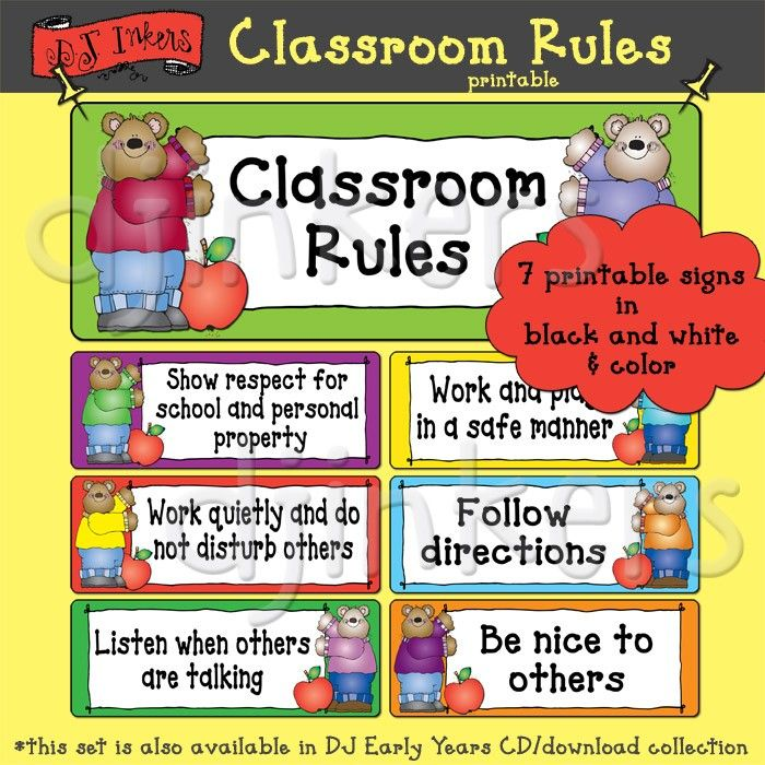 Classroom Decoration Word Worksheet ~ Classroom rules printable class