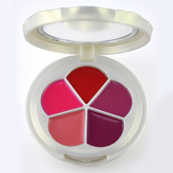 Professional 5 Colors Pearl Matte Lip Gloss Palette with Mirror #men, #hats, #watches, #belts, #fashion, #style