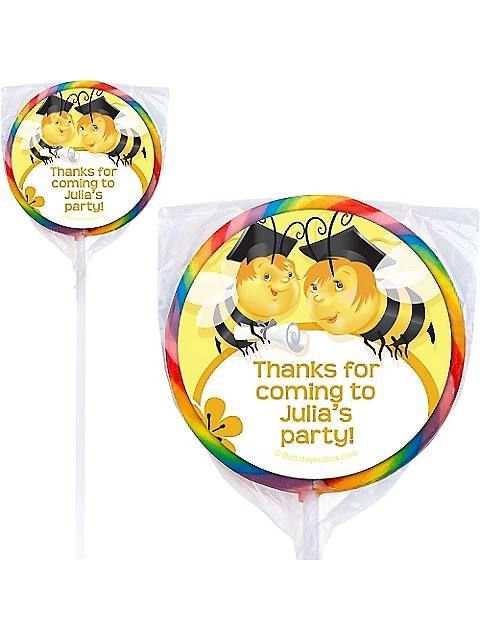 Personalized Lollipops BB1419PP Busy Bee Grad Personalized Lollipops (12 Pack) - Busy Bee Grad Personalized Lollipops (12 Pack),    #,    #Personalized,    #PersonalizedLollipops