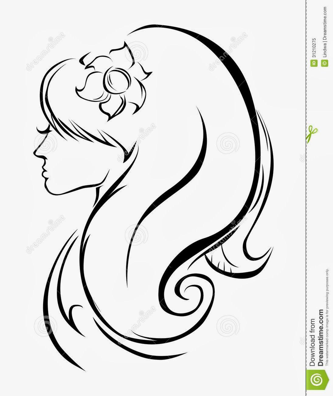 Ideas Y Material Gratis Para Fiestas Y Celebraciones Oh My Fiesta Siluetas De Caras De Chicas Siluetas Dibujos De Arte Simples Caras