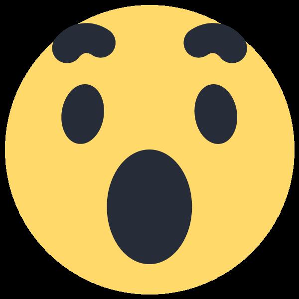 Facebook Wow Emoji Emoticon Icon Vector Logo Png 600 600