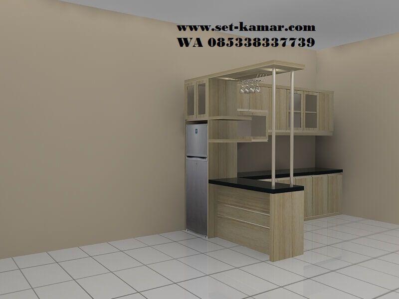 Kitchen Set Mini Bar Minimalis Jati Dengan gambar   Mini ...