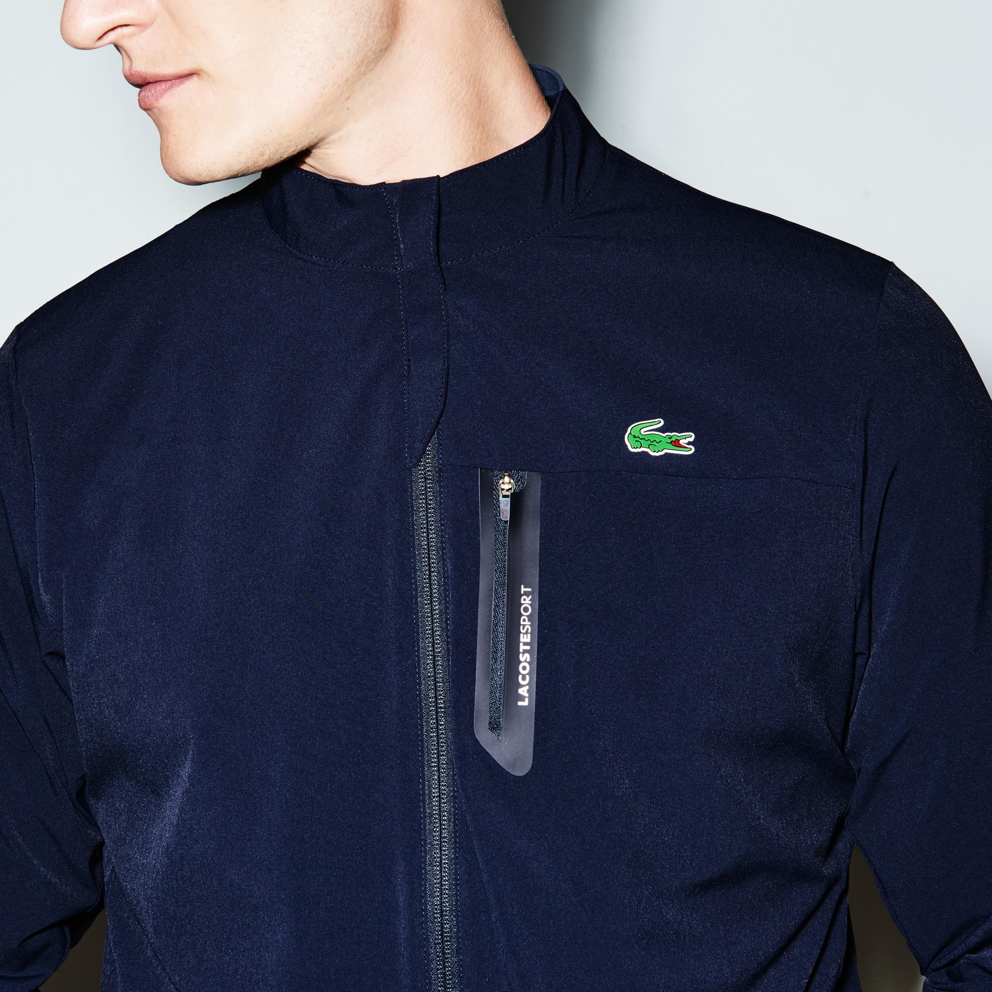 6c4050b5 Lacoste Men's Sport Technical Taffeta Zip Golf Jacket - Navy Blue/Navy Blue  Xxl Green
