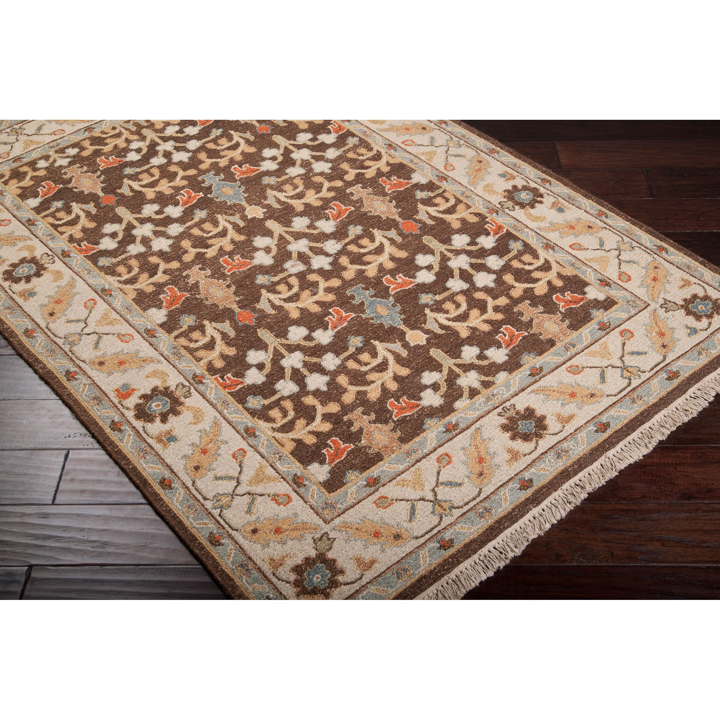 Hand Knotted Legacy Brown New Zealand Wool Rug 9 X 12