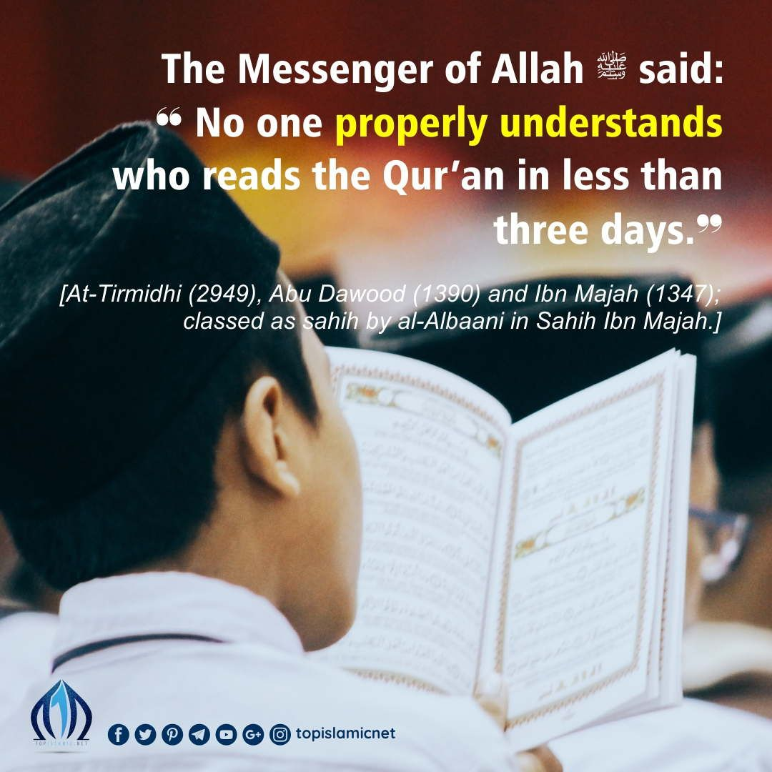 The messenger of allah ﷺ said no one properly understands who