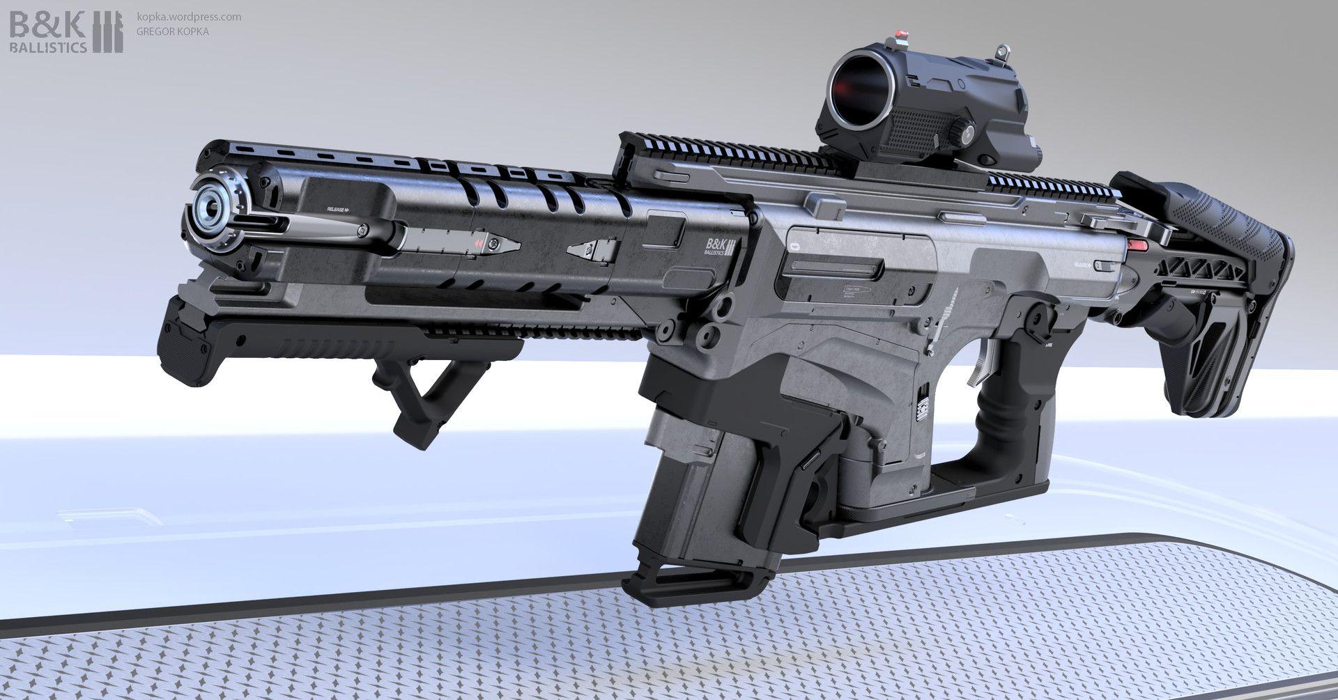 artstation assault rifle concept gregor kopka mossberg
