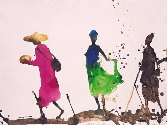 Painting Aquarell Miquel Barcelo Painter Miquel Barcelo Is A