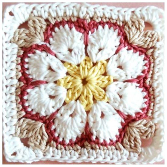African flower square - free crochet pattern | Pinterest ...