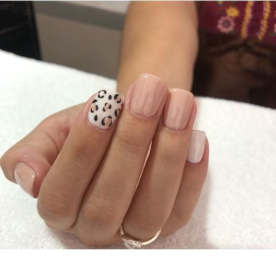 Pink And White With Pattern Inspiring Ladies Pink Cheetah Nails Cute Nails Cheetah Nails
