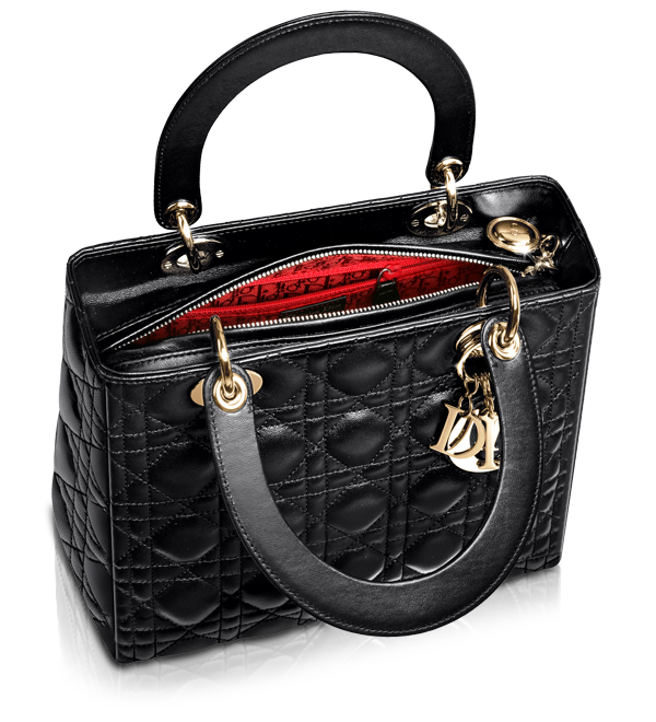 ed094945f57 Lady Dior Black Leather Small Bag (inside) | iconic and timeless ...