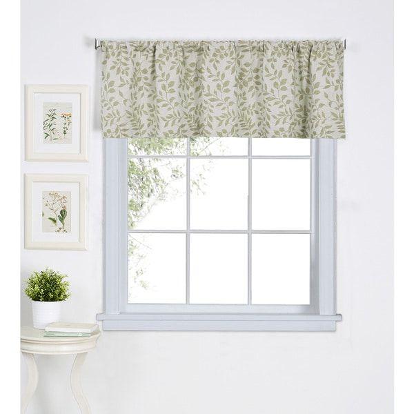 Elrene Serene Kitchen Window Valance 60 W X 15 L Window