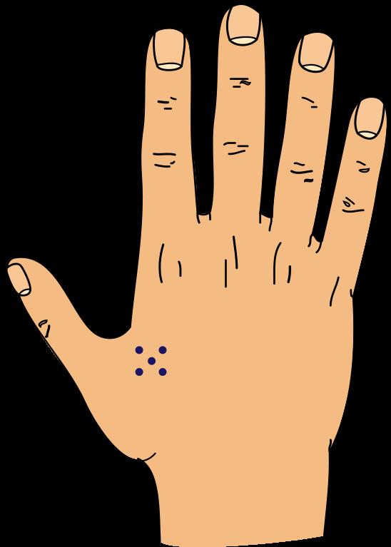 c6b398217077 File:5 dots tattoo.svg - Wikimedia Commons | Tattoo ideas | Dot ...