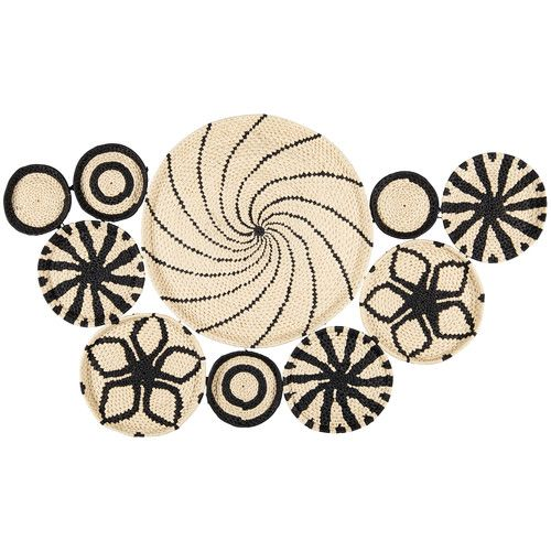 deco murale paniers tresses ethnique graphique casablanca. Black Bedroom Furniture Sets. Home Design Ideas