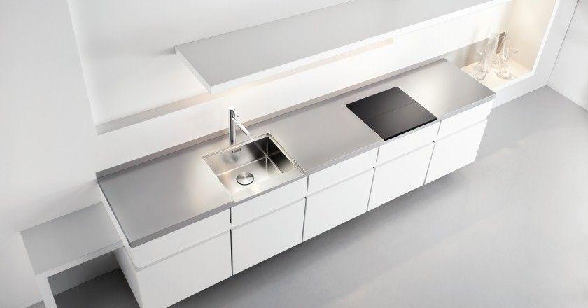 küchentrends_02-edelstahl-2 | küche | pinterest | stahl, edelstahl ... - Edelstahl Arbeitsplatte Küche