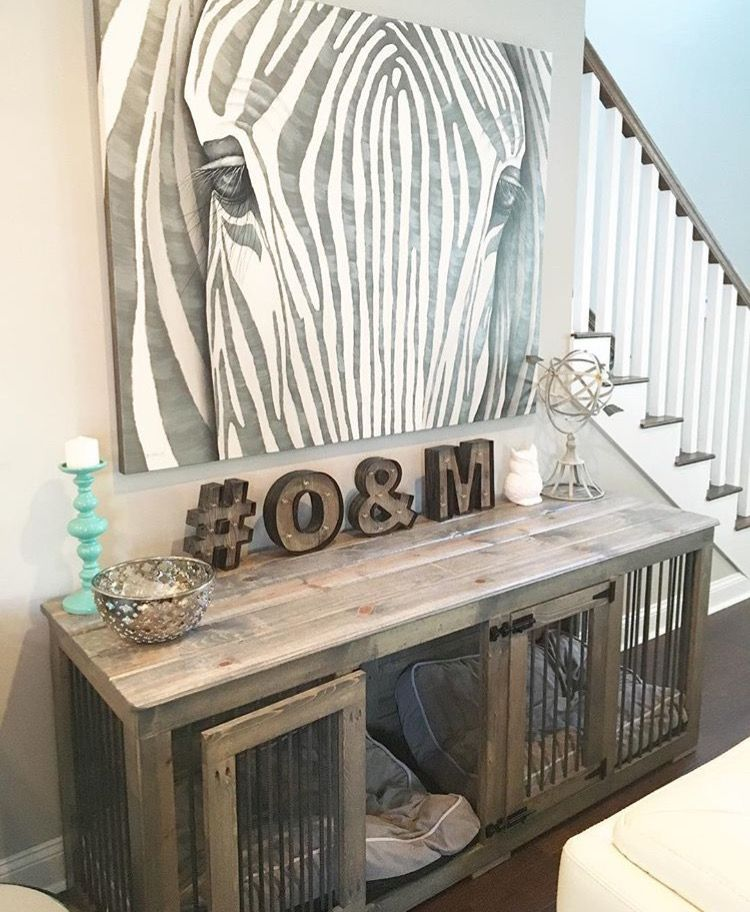 Dog Crate Console Table