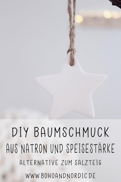 DIY Weihnachtsbaumschmuck aus Speisestärke und Natron #sapinnoel2019
