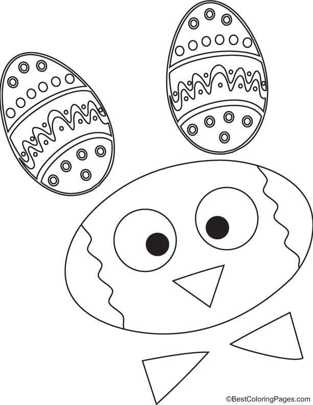Cartoon bunny coloring page