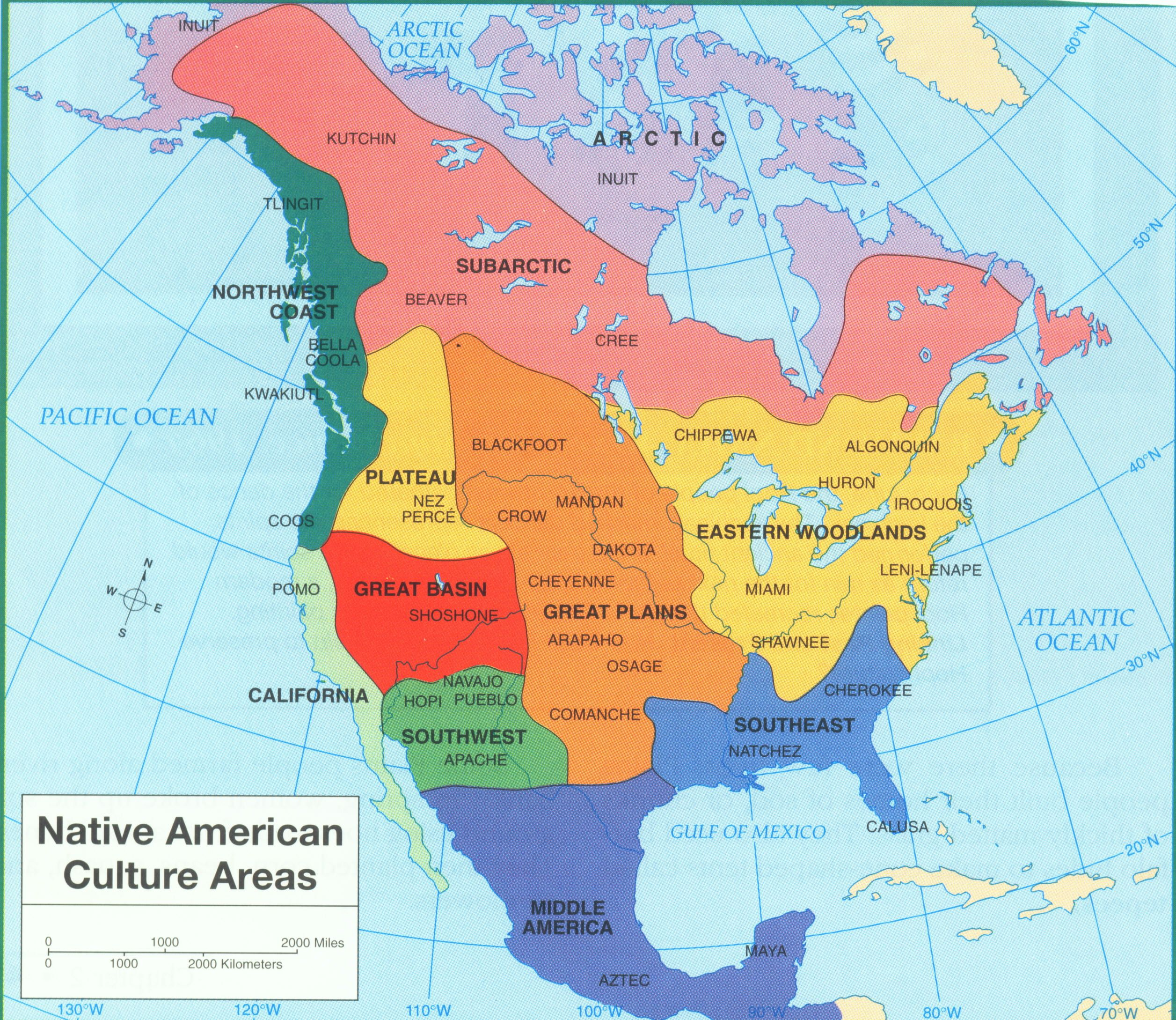 Native North American Tribes Canada  Nouvelle France - Map of native american tribes in arizona