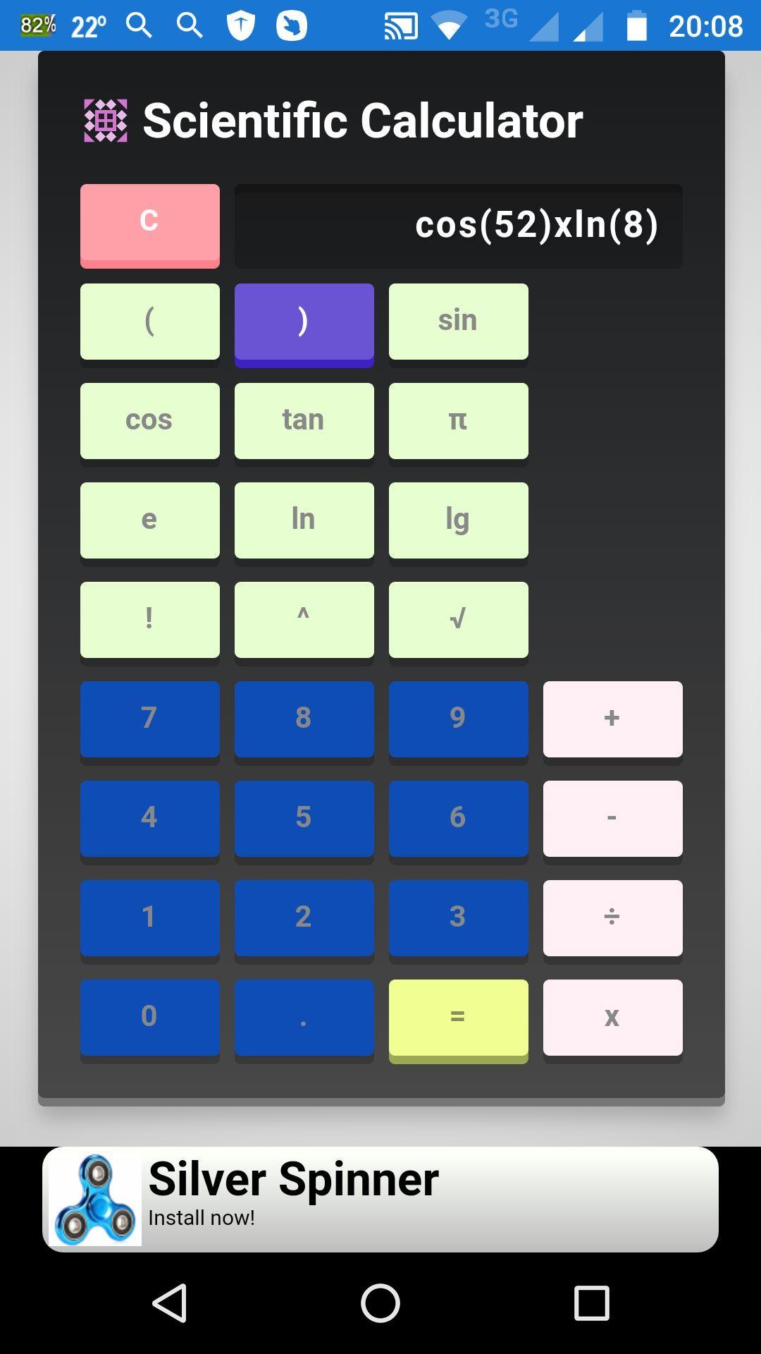 Application storm2050 scientific calculator