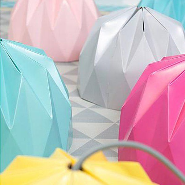 Lampes origami - Marie Claire Idées