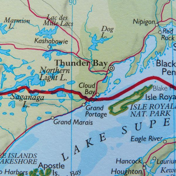 dog lake ontario map Map Of Thunder Bay Ontario On Lake Superior Including Dog Lake Nipigon Northern Light Lake Saganaga Lake Nipigon Grand Isle Grand Marais dog lake ontario map